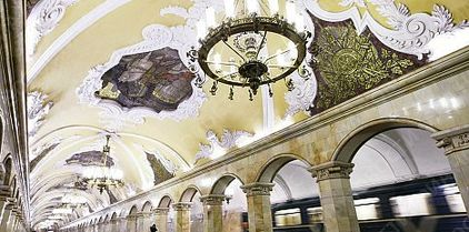 la station Comsomolskaya du métro de Moscou, visite guidée