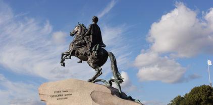 Le Cavalier de bronze à Saint-Pétersbourg