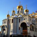 La catedral de la Anunciación en el Kremlin de Moscú