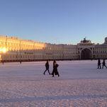 Saint-Pétersbourg en hiver: Place du Palais