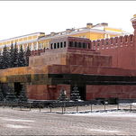Lenin's Mausoleum on Red Square designed by Alexei Shchusev
