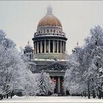 Cathédrale Saint-Isaac en hiver