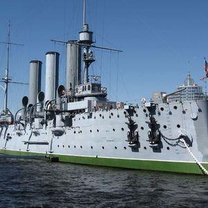 Croiseur Aurore, le navire-musée à Saint-Pétersbourg