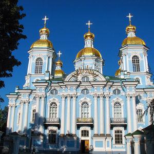 Saint Nicholas Naval Cathedral in Saint Petersburg