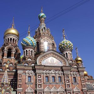 la cathédraleSaint-Saveur-sur-le-Sang-versé à Saint-Pétersbourg