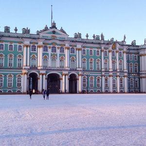 La Palais d'Hiver (Ermitage) en hiver
