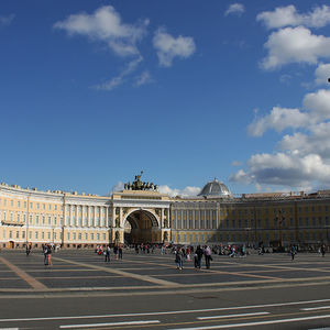 La placed du Palais à Saint-Pétersbourg