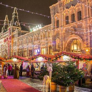 le marché de Noël sur la place Rouge