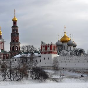 Novodevichy Convent common winter view