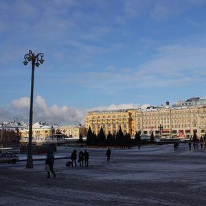 la place du Manège à Moscou