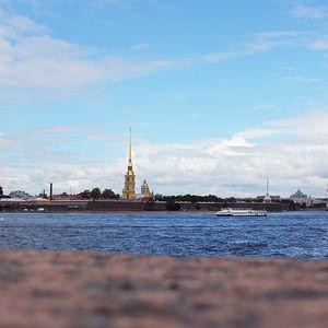 La fortaleza de San Pedro y San Pablo en San Petersburgo