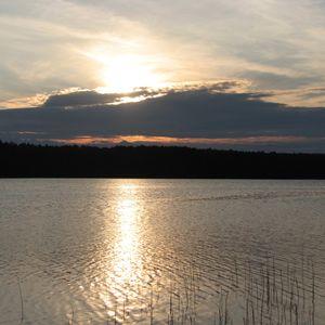 El lago Onega, la República de Carelia, Rusia