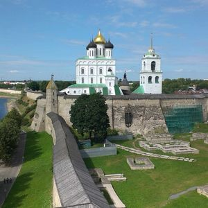 Visite de la ville de Pskov, le Kremlin de Pskov