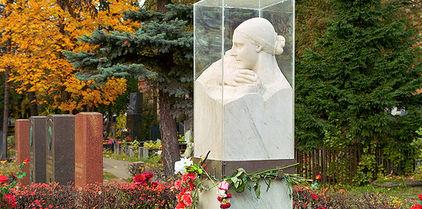 Le cimetière de Novodievitchi - la tombe de Nadejda Allilouyeva, la femme de Staline