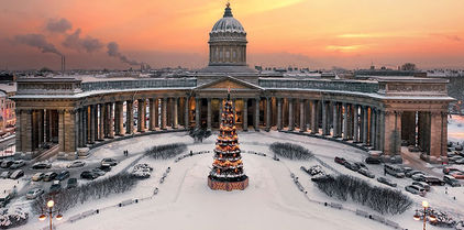 Catedral de Kazan en San Petersburgo - tours de Invierno en San Petersburgo