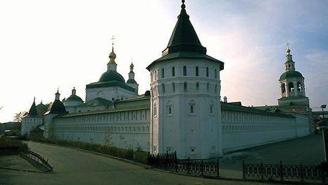 Les murs du Monastère Danilov à Moscou