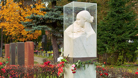 the grave of Nadezhda Alliluyeva (Stalin's wife) on Novodevichy Cemetery in Moscow