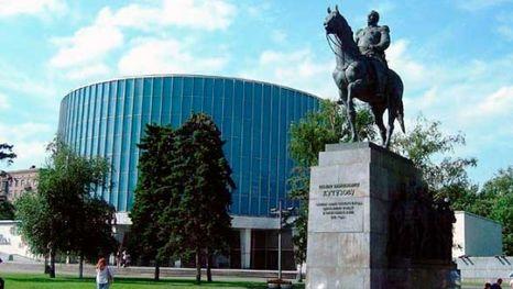 Le monument Koutouzov à l'entrée du Musée-panorama Bataille de Borodino