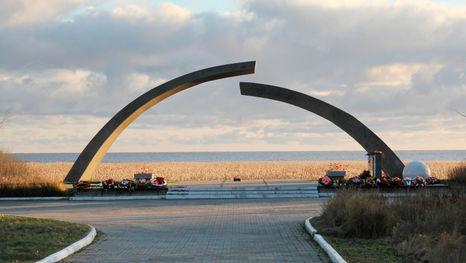 le Cercle brisé, monument commémoratif sur la Route de la Vie