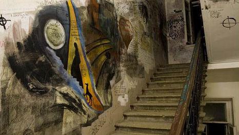 L'escalier et les dessins des fans de Boulgakov