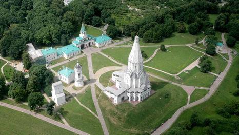 Le parc Kolomenskoïe - l'église de l'Ascension (patrimoine UNESCO)