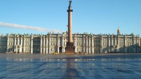 la colonne d'Alexandre et le Palais d'Hiver, Saint-Pétersbourg