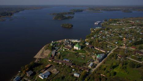 la aldea de Goritsy, una parada de cruceros por el Volga de San Petersburgo a Moscú