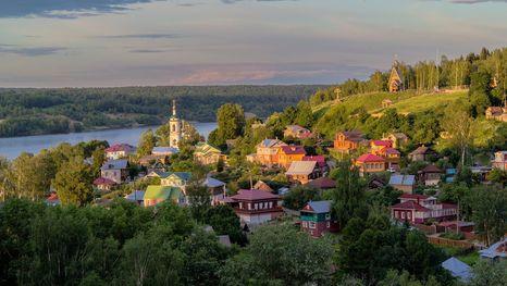Ville de Plios, l'anneau d'or de Russie