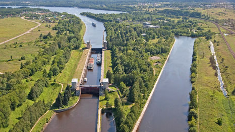 El canal de Moscú (canal Moscú-Volga): parte de la ruta de su crucero