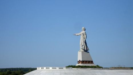 statue de la Mère Volga, réservoir de Rybinsk