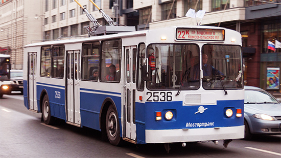Trolleybus de Moscou, transport en commun à Moscou